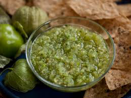 Roasted Tomatillo Garlic Salsa